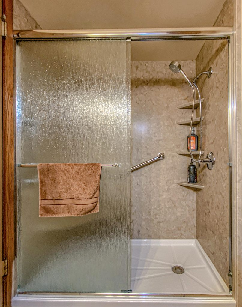After Photos of Tub to Shower Conversion in Saukville, WI